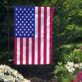 American Flag Garden Flag, Double-Sided Outdoor Garden Flag and Flagpole, Decorative Flag for Homes, Yards, and Gardens, 12 x 18 Inch Flag with 36 Inch Flagpole