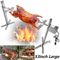 BBQ Rotisserie Kit, 66LB 15W Heavy Duty Universal Complete Grill Campfire Rotisserie Spit Charcoal Rod Motor Kit Pig Lamb Cooker Grill for Picnic Outdoor Use - Stainless Steel