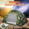 2 Person Camouflage Men Instant Automatic Pop Up Camping Sun Shelter Tent Hiking Portable