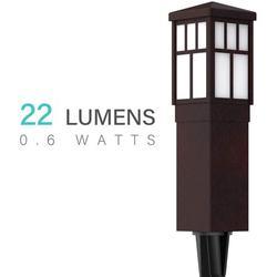 Malibu Mission Collection LED Bollard 22 Lumens Pathway Light Low Voltage Landscape Lighting 8419-4321-01