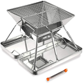 XZHOME Portable Outdoor Stainless Steel Barbecue Folding Barbecue Stove Outdoor BBQ Charcoal Stove