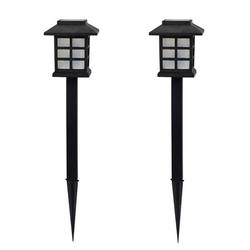 2 Pcs Solar Pathway Lights Outdoor LED Solar Powered Garden Lights for Lawn Patio Yard;2 Pcs Solar Pathway Lights Outdoor LED Solar Powered Garden Lights
