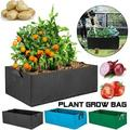 3 size environmental protection indoor living room balcony roof weave garden rectangular breathable planting container planting bag flower pot flower pot plant flower vegetable fruit