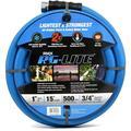 "AG-Lite Rubber Hot & Cold Water Rubber Garden Hose: Ultra-Light & Super Strong - 2X the water flow than 5/8"" hose (1""x 15') - BSALONE15"