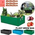 3 Sizes High Quality Raised Plant Bed Garden Flower Planter Elevated Vegetable Box Planting Grow Bag Fabric Garden Bed Rectangle Breathable Planting Container Grow Bag Planter Pot