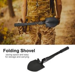 Mgaxyff Camping Shovel,Multi-function Folding Survival Shovel with Compass for Outdoor Camping Hiking Traveling, Survival Shovel