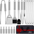 Anpro Grill Kit, Grill Set, Grilling Utensil Set, Grilling Accessories, BBQ Accessories, BBQ Kit, BBQ Grill Tools, Grilling Gifts for Men, Smoker, Camping, Kitchen, Stainless Steel, 21 PCS