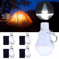 VicTsing 15W Solar Lights, Solar Powered Led Light Bulb Portable Led Solar Lamp Spotlight with Solar Panel for Outdoor Hiking Camping Tent Fishing Lighting (4 Pcs)