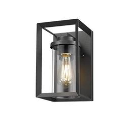 """Rosient Outdoor Wall Mount Lights, H10"""" Exterior Wall Sconces,Outdoor Wall Lighting Fixture,Exterior Wall Lantern, Wall Lamp Lighting Fixture for Patio, Porch (Black, 10""""H)"""
