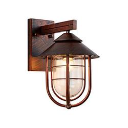 """Nautical Style Outdoor Lighting fixtures Wall Mount 13.39""""H Oil Rubbed Bronze Finish with Cage Clear Glass Shade Outside Wall Lamp Waterproof Retro Outdoor Wall Lantern for Porch Yard Room Decor"""