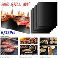 BBQ Grill Mesh Mat, Reusable Barbecue Mat for Grill, Non-stick BBQ Grilling Mats, Barbecue Grill Sheet, 12Pack