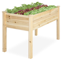 "Novashion Raised Garden Bed, Heavy Duty Garden Planter Raised Bed Vertical Garden Freestanding Elevated Planters Outdoor for Vegetables Fruits Potato Onion Flower (48.8x23x29.9""/49x49x22"")"