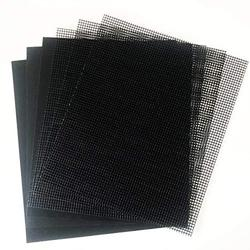 BBQ Grill Mesh Mat Kit 6 PCS, 3Pcs Grill Mesh Mat & 3 Pcs Solid Mats Non-Stick Grilling Mat for Charcoal Barbecue, Vegetable, Heavy Duty BBQ Mat Oven Liner Grill Accessories for Outdoor Grill
