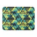 GODPOK Abstract Geometrical Rough Grunge Pattern Palm Leaves Summer Funky Ink Artistic Trendy Expressive Rug Doormat Bath Mat 23.6x15.7 inch