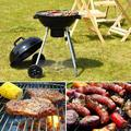 """18.5"""" Outdoor Backyard Cooking Kettle Charcoal Grill with Wheels"""