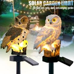 Lowestbest Solar Landscape Lights, Outdoor Landscaping Lights, Waterproof Solar Powered LED Landscape Lights Stump Light, Solar Owl Landscape Light, White