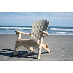 GAZEBO JOE'S Reclining Lounge Natural Wood Folding Adirondack Chair - Made in USA