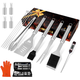 HOMENOTE Grilling Accessories, 17PCS Grill Tools Set BBQ Tool Kit Stainless Steel Grill Sets, 16� Spatula Tongs, Thermometer for Barbecue, Camping, Perfect Grill Gift