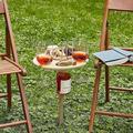 DOTSOG Portable Outdoor Wine Table - Folding Picnic Table,Patio Side Table,Wooden Folding Table for Garden Lawn Outdoor for Backyard Camping,Beach