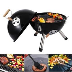 """Charcoal Grill, SEGMART BBQ Grill, Small Portable Charcoal Grill, Outdoor Charcoal BBQ Grill with Air Vent/Charcoal Bowl, Small Grill for Outdoor Cooking, Stainless Steel, 12"""" Dia x 10"""" H, Black,H2135"""