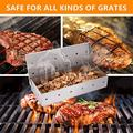 Premium Grill Smoker Box for Wood Chips, Heavy Duty BBQ Stovetop Smoker Box, Thick Stainless Steel Grilling Accessories Won't Warp on Gas Grill or Charcoal Grill