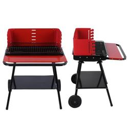 ANGGREK Portable Outdoor Camping Non‑Stick Stainless Steel Barbecue Grill with Wheels BBQ Accessory, Barbecue Grill Rack, BBQ Accessory 22.0*23.4*30.3in