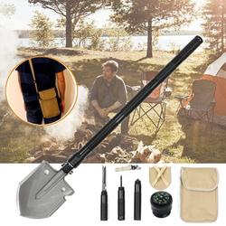 Military Folding Shovel Multitool,Portable Foldable Survival Tool Camping Shovel,Outdoor Shovel for Camping Hiking Outdoor Emergency Car