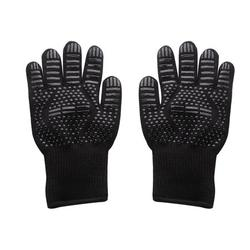 1 Pair Grill Gloves Heat-resistant Glove Microwave Oven Silicone Glove for BBQ Cooking Oven Baking;1 Pair Grill Gloves Heat-resistant Glove Microwave Oven Silicone Glove