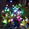 3 Pack Solar Garden Lights, Outdoor Decorative Colorful LED Solar Powered Cherry Flower Landscape Stake Lights for Yard Pathway Deck Party Patio Christmas,Ball/Sakura