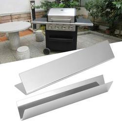Tebru BBQ Parts,Grill Heat Shield,2Pcs Stainless Steel Gas Grill Heat Shield Replacement Heat Plate BBQ Parts Fit for Genesis Series Grill