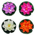 CNZ Large Floating Pond Decor Water Lily/Lotus Foam Flower, Set of 4