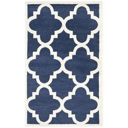 """Amherst Collection AMT423P Navy and Beige Indoor/ Outdoor Area Rug (2'6"""" x 4'), feet fibers SG1807070 rug CY6914268 polypropylene Beige CY6032268 SGH280C.., By Safavieh Ship from US"""