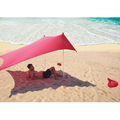 Ecosprial Beach Tents,Beach Shade Sun Protection,Fishing Camping Waterproof Rainproof Sunscreen Tent,Shade Cloth,Portable Outdoor Sunshade,Red(15.97*15.97*5.57ft)