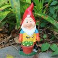 Garden Sculptures & Statuesgrowing Pot Plants Garden Gnome Statue Resin Gnome Sculpture Garden Decor For Outside Patio Yard Lawn Porch