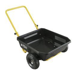 Gorilla Carts GCR-4 4 Cu. Ft. Poly Yard Cart, 300-pound Capacity, Black