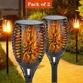 """Solar Lights 96 LED Flickering Flame Solar Torches Lights 43"""" Waterproof Outdoor Lighting Solar Powered Pathway Lights Landscape Decoration Lighting Auto On/Off for Garden Patio Yard, 2 Pack"""