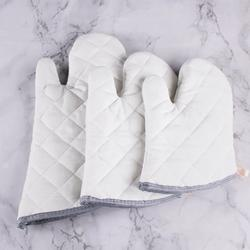 Windfall Oven Mitts Heat Resistant Oven Glove, Soft Cotton Lining with Non-Slip Surface for Kitchen Baking BBQ Kitchen Non Slip Heat Resistant Microwave Oven Baking Gloves Cotton Mittens