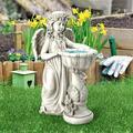 Design Toscano Angelique's Garden Splash Angel at Birdbath Statue