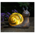 Ecosprial Garden Solar Lights,Solar Powered LED Light Garden Decor,Outdoor Statue Lights Animal Figurine Night Light Home Garden for Backyard Pathway Yard Patio,Gifts for Children,Snail