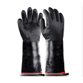 Heat Resistant-Smoker BBQ Gloves 14 Inches,932℉, Grill, Cooking Barbecue Gloves, to Handling Heat Food Right on Your Fryer,Grill,Oven. Waterproof, Fireproof, Oil Resistant Neoprene Coating