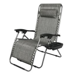 Widened Lounge Chair Leisure Chair Zero Gravity Folding Patio Recliner with Headrest for Outdoor Camping Garden Patio Recliner Lounge Chair