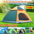 2-3 Person Double Layer Camping Tent Automatic PopUp Folding Tent Waterproof Travel Hiking Tent for Outdoor Beach Fishing Picnic With Backpack