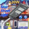 60W 120W 160W LED Solar Lights Outdoor Street Area Lighting Security Wall Lamp with Motion Sensor for Outdoor Garden Courtyard Deck Waterproof (without mounting pole)