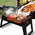 Hirigin Folding BBQ Grill Portable Compact Charcoal Barbecue BBQ Grill Cooker Bars Smoker Outdoor Camping 27.5x38.5x29 cm