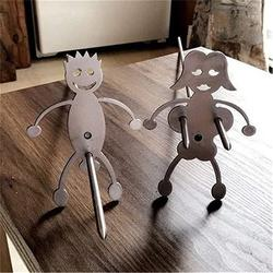 Hot Dog Marshmallow Roasters, Women Men Shaped Stainless Steel Camp Fire Roasting Stick, Funny Metal Craft Barbecue Forks for Bonfire Grill