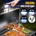 10 LEDs BBQ Grill Light Super Bright Battery Powered Barbecue Night Outdoor Lamp