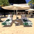 ZDMATHE Lazy Lounger Beach Towel Chair Covers With Pockets Quick Drying Beach Lounge Chair Cover Towel Bag For Hotel Holiday Sunbathing