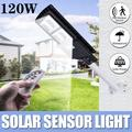 EVERKING 120W Solar Lights Outdoor, 240 LED Solar Powered Street Light with Motion Sensor and Remote Control, Security Wireless Waterproof Solar Flood Light for Yard, Fence, Garden, Patio, Path