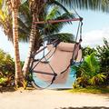 Zimtown Portable Hammock Rope Chair Swing Outdoor Seat Camping Wood