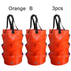 Hanging Planter Bag,1 or 3Pack Hanging Strawberry Planting Containers Strawberry Grow Bags PE Strawberry Planter for Growing Vegetables Flowers Herb Plant